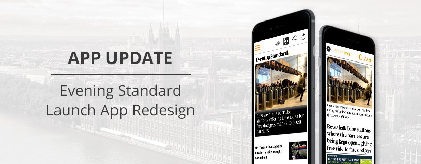 App Update: Evening Standard's Redesign Using PageSuite Live