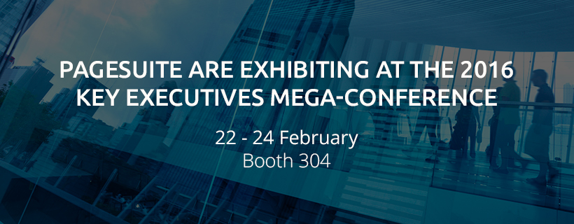 PageSuite Are Exhibiting at the 2016 Key Executives Mega-Conference