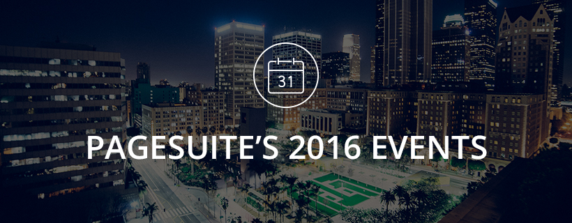 PageSuite's 2016 Events