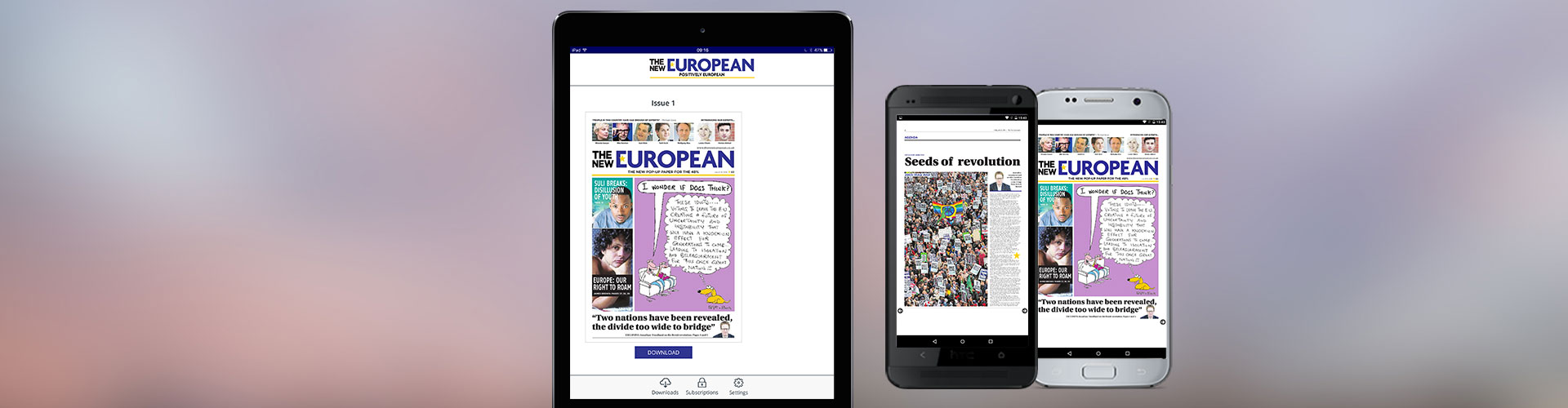 Brand New App for 'The New European' Launched by PageSuite