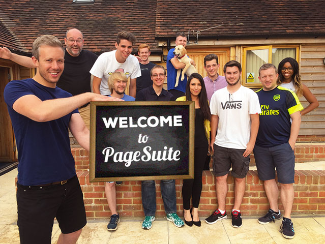 Welcome to PageSuite sign from PageSuite