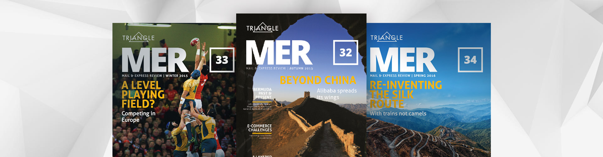 Header image of Triangle offers new mobile experience for MER Magazine readers