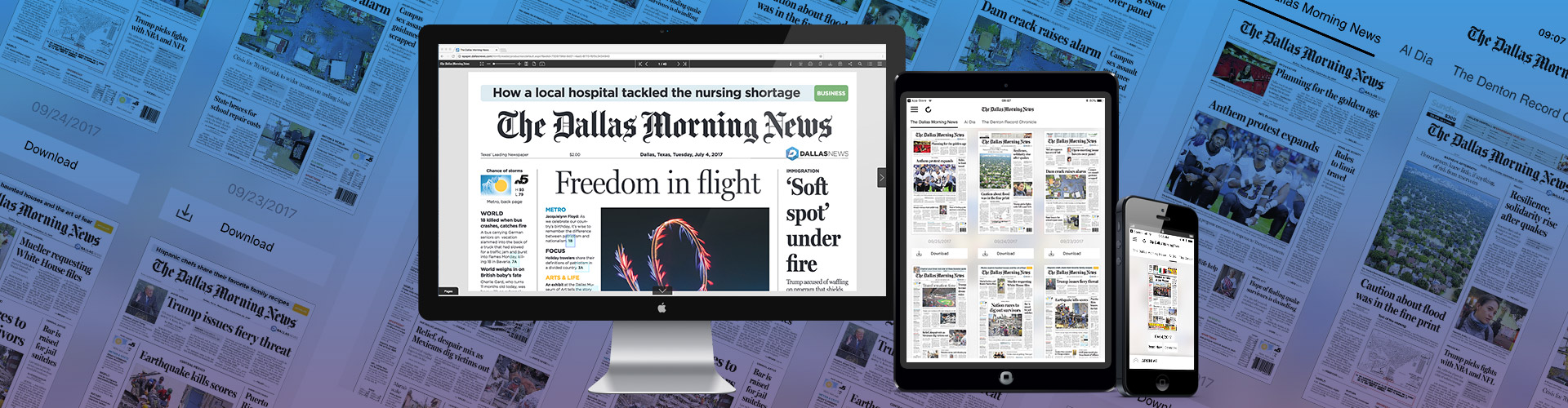 Image of The Dallas Morning News launch new app and HTML5 desktop solution