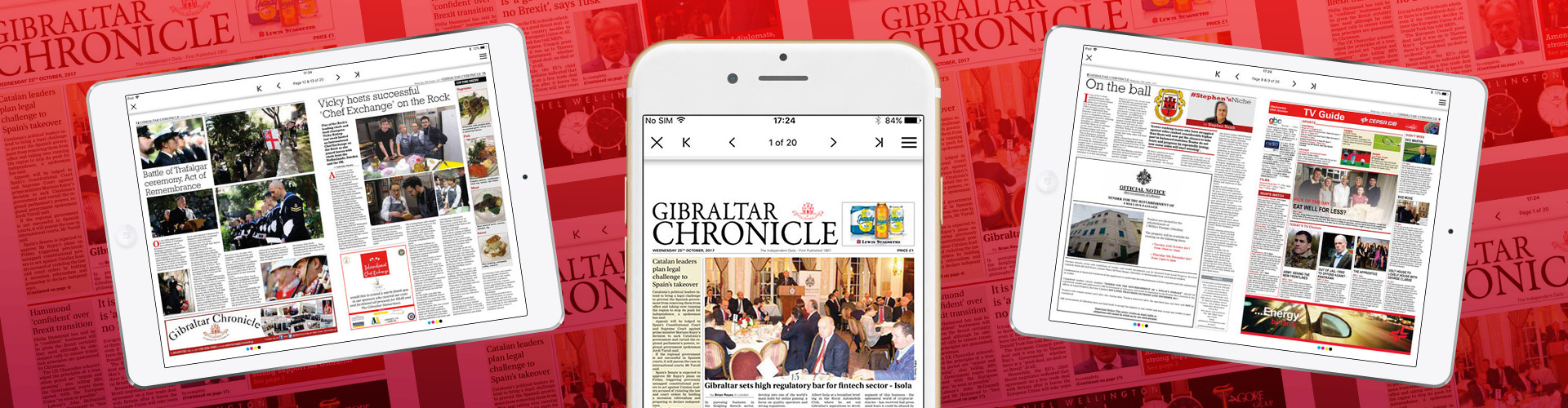 Header image of Gibraltar Chronicle Launch New Digital Solution