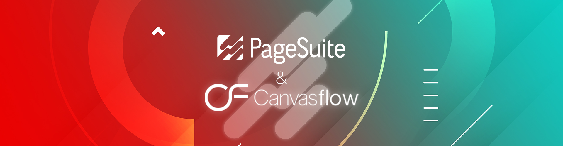Header image of New Tech Partnership: Canvasflow & PageSuite