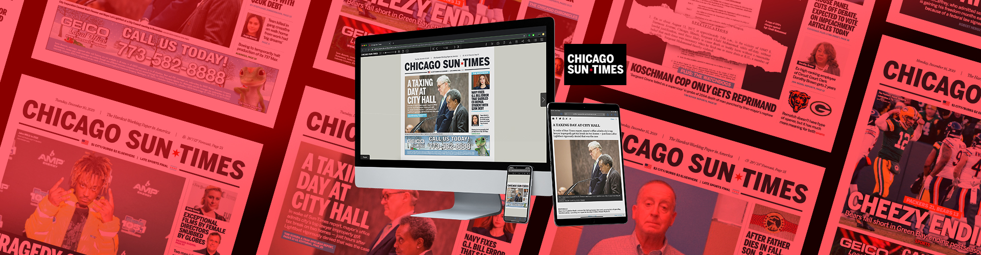 Header image of Press Release: Chicago Sun-Times Launches New Replica Solution with PageSuite
